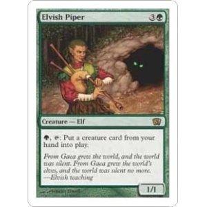 画像1: [英語版]《エルフの笛吹き/Elvish Piper》(8ED)