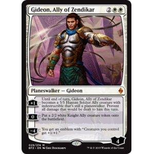 画像1: [英語版/日本語版]《ゼンディカーの同盟者、ギデオン/Gideon, Ally of Zendikar》(BFZ)
