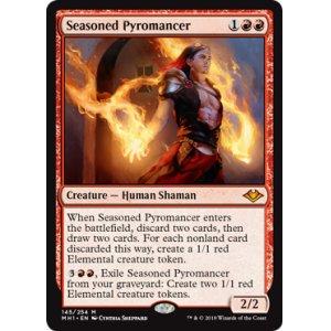 画像1: [英語版/日本語版]《歴戦の紅蓮術士/Seasoned Pyromancer》(MH1)